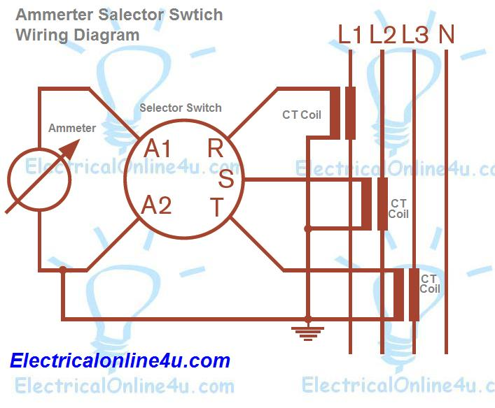 ammeter selector switch wiring diagram explanation electrical rh electricalonline4u com wiring diagram for a 6 position rotary switch rotary switch wiring diagram guitar