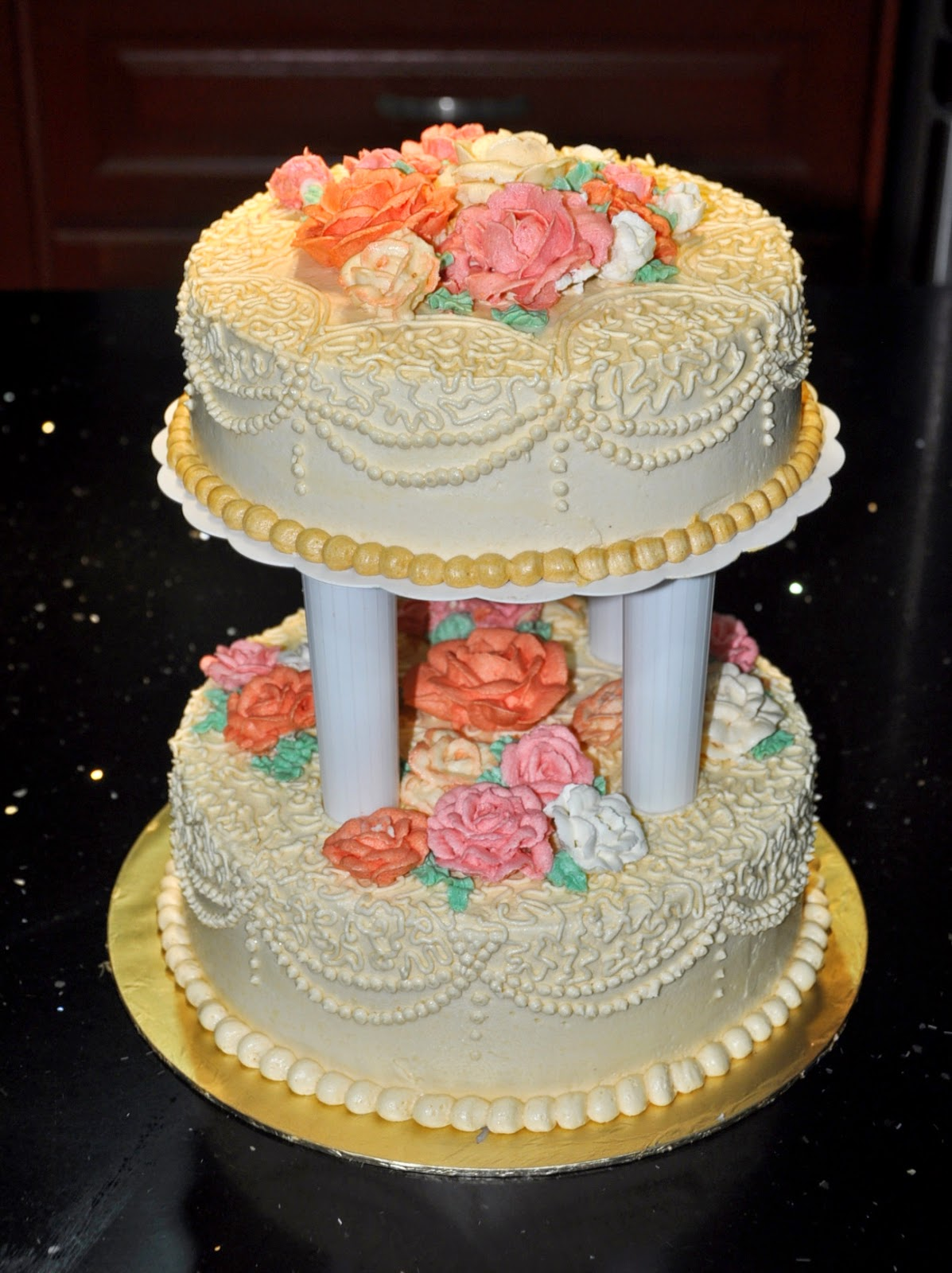 wedding cakes with icing not fondant prisha s home bakes fondant or buttercream wedding cake 26044