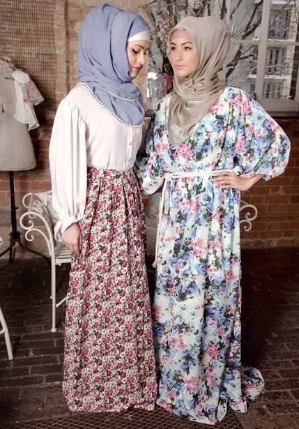 Hijab cantik dengan kombinasi kalem ala remaja