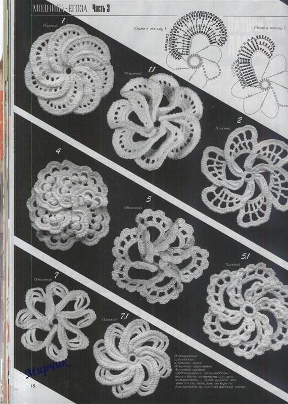 Patrones Crochet Flores Espirales