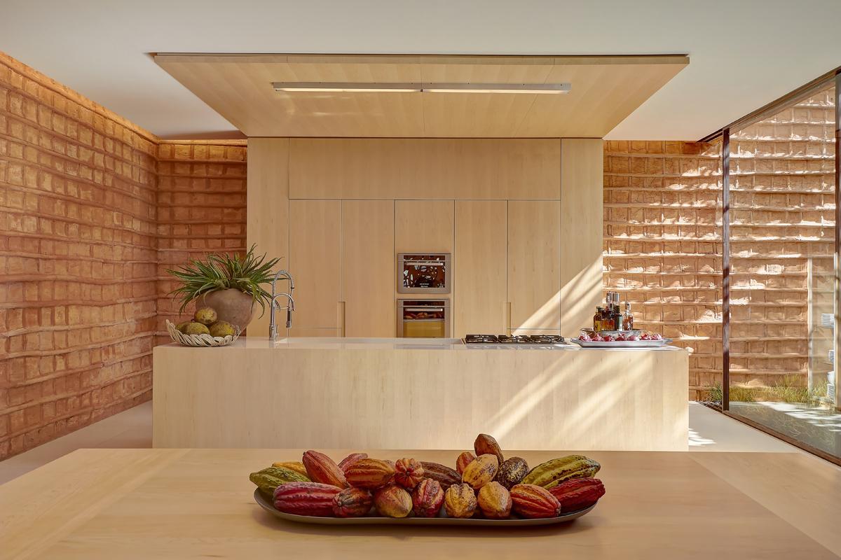 cozinha com lava louças embutida no armário vanilla da bontempo  #3F1C0B 1200 800