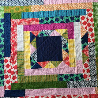 centre quilted with three concentric diamonds