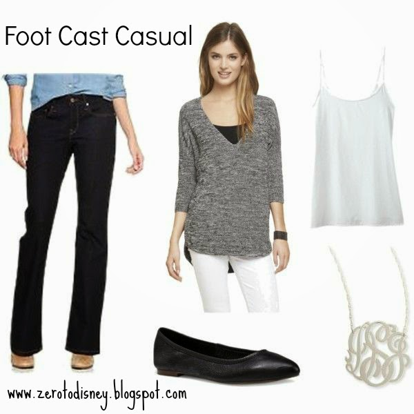 Zero to Disney: What To Wear With a Foot Cast or Walking Boot