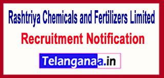 Rashtriya Chemicals and Fertilizers Limited RCFL Recruitment Notification 2017Last Date  31-05-2017
