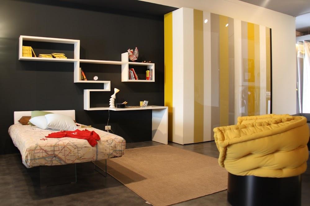 Yellow-Grey-Black-Bedroom