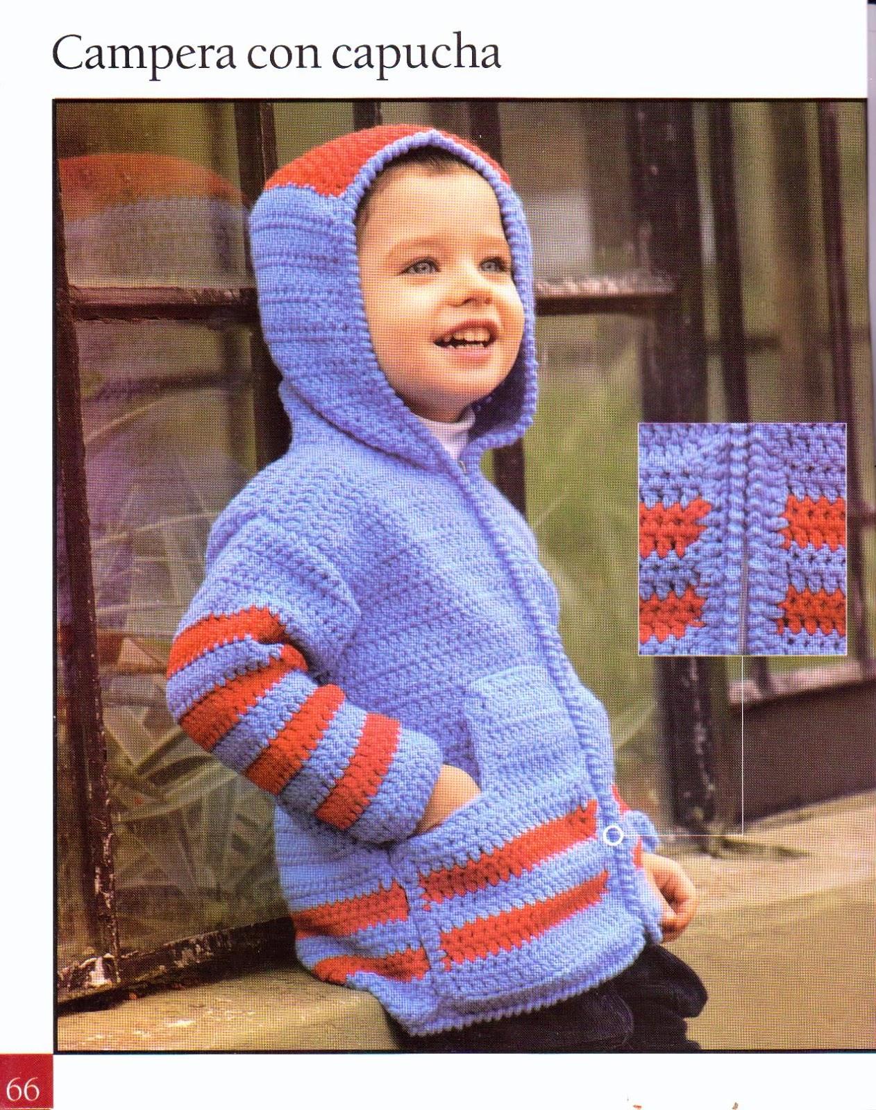 Chaqueta con capucha infantil