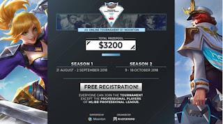 Mobile Legends adakan Turnamen Online, Total Hadiah Lebih Dari IDR 400 Juta