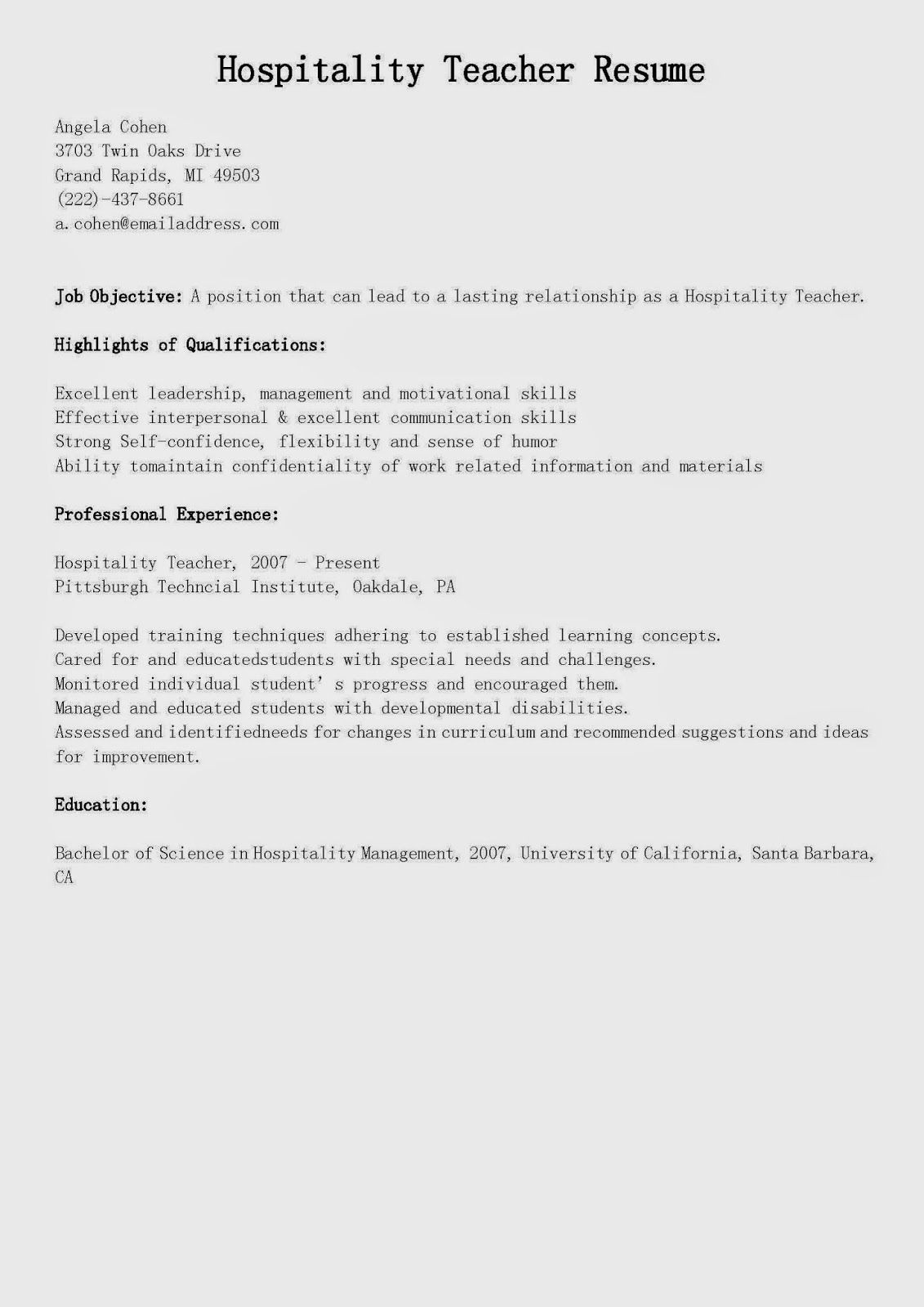 resume objective examples beauty industry resume maker create