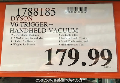 Deal for the Dyson V6 Trigger+ Handheld Vacuum at Costco