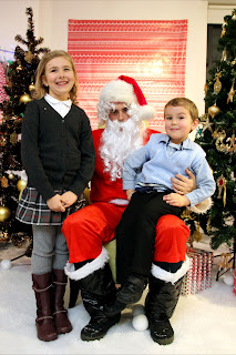 Top Ender and Big Boy with Santa (aka The only Male in the office daft enough to agree to be Santa)