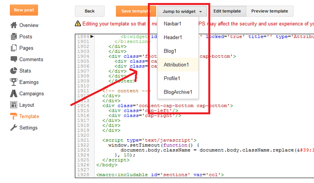 How to Remove Cara Menghilangkan Powered by Blogger Widget Attribution