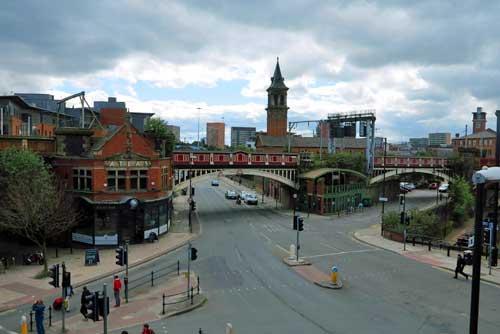 Deansgate Station, Manchester, UK.