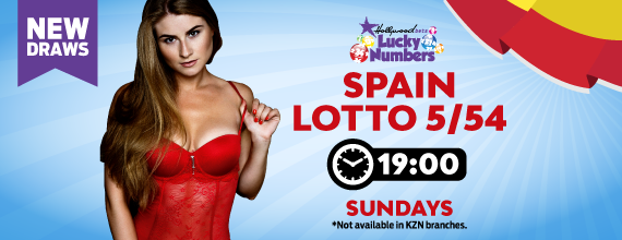 Spain 5/54 Lotto - Lucky Numbers - Hollywoodbets - Beautiful Girl - Red - New Draws - Lottery - Results