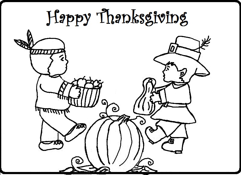 thanksgiving indian coloring pages printable - photo #29