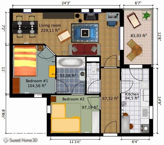 تحميل برنامج تصميم المنازل 3d ثلاثى الابعاد عربى 2014 Sweet Home 3D Download