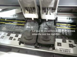 presenting printer printing rollers