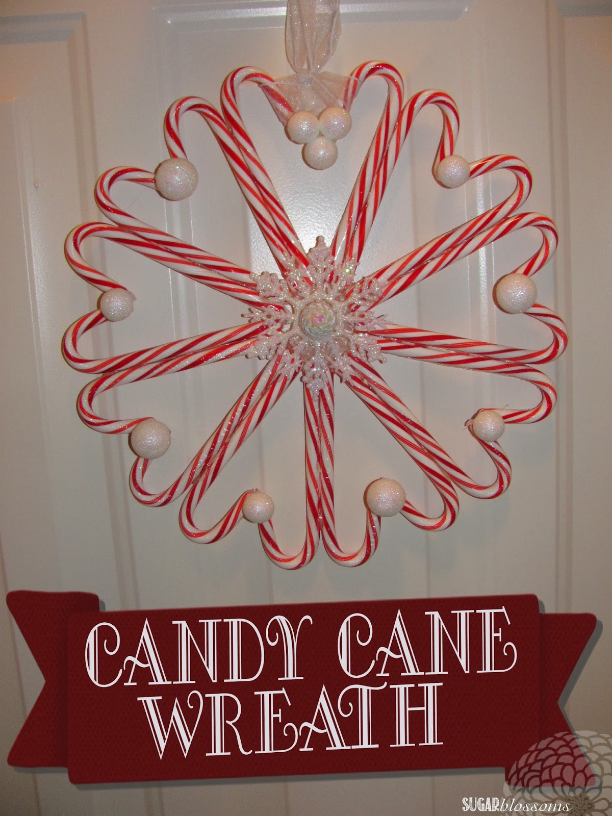 Sweet Sugar Blossoms Diy Candy Cane Wreath