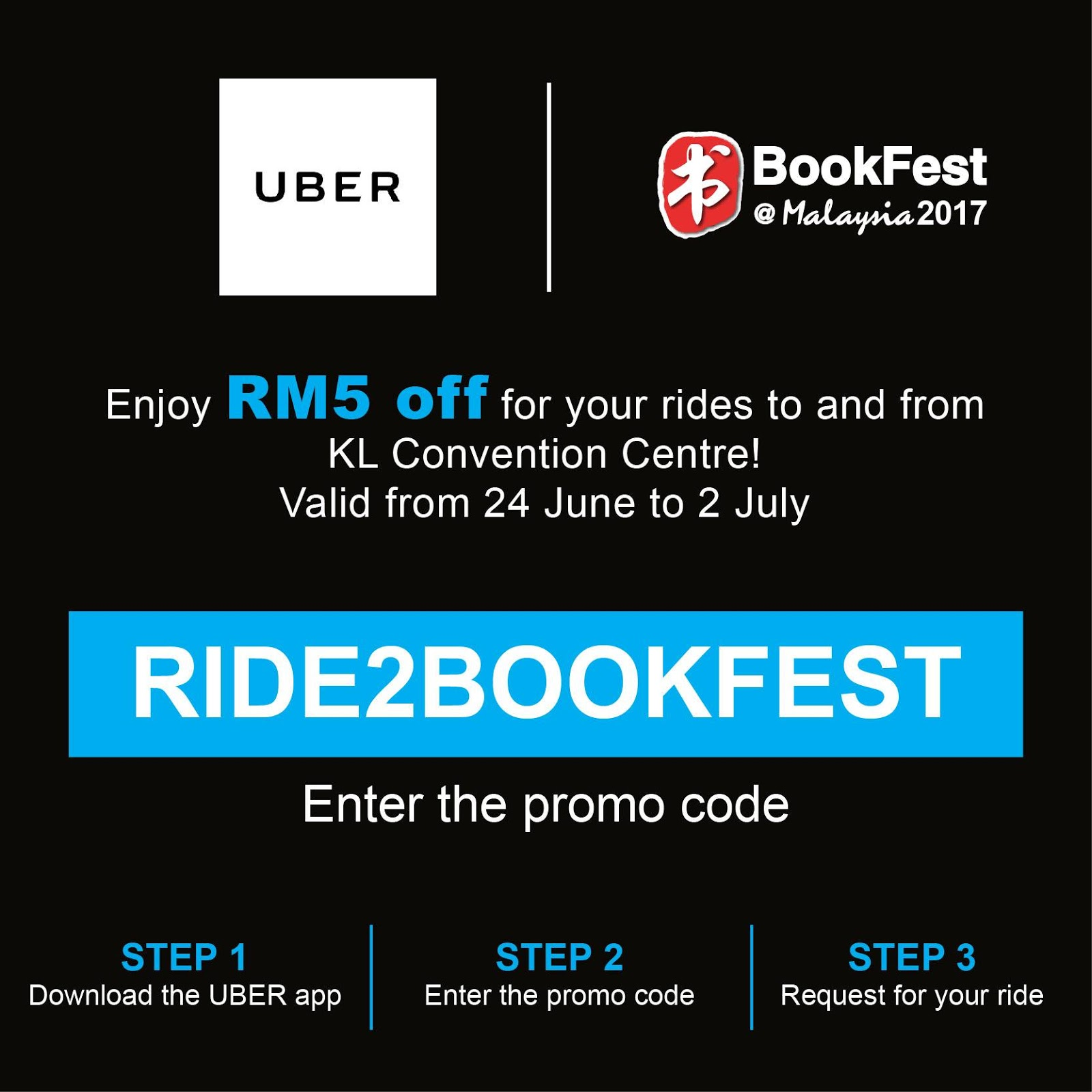 Uber Discount Code >> Uber Promo Code Rm5 Discount X 2 Free Rides To From Klcc Until 2