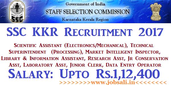 SSC KKR Recruitment 2017, SSC Vacancy, SSC Jobs