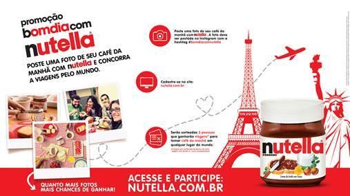 Promoção de NUTELLA® leva consumidores para tomar café da manhã em qualquer lugar do mundo.