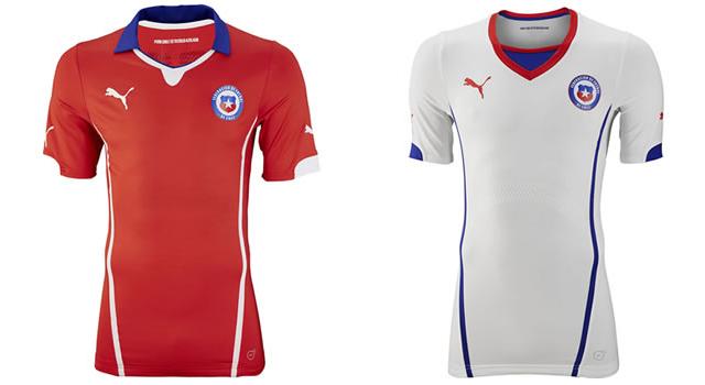 Camisetas selección Chile Mundial 2014