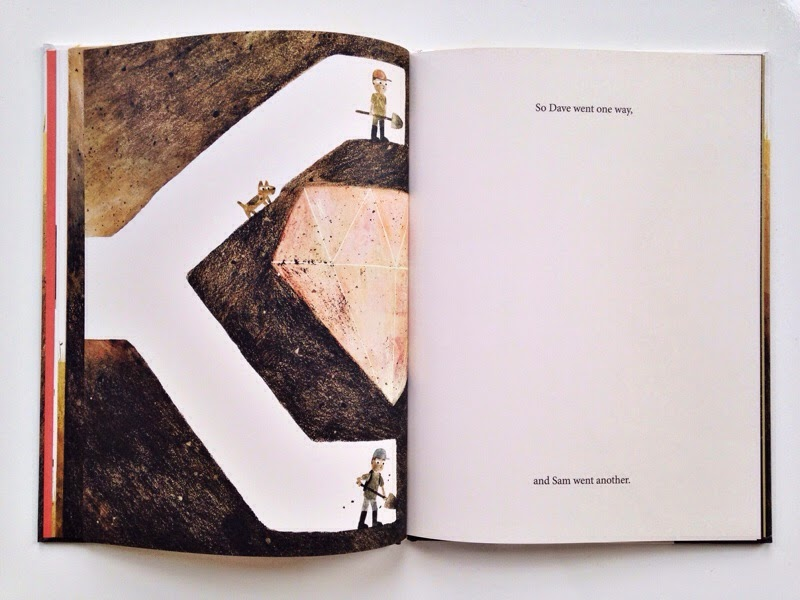 Giant diamond in earth in Sam and Dave dig a hole kids book jon klassen
