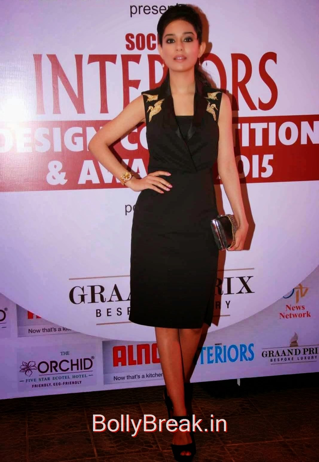 Amrita Rao Pics in Black Dress, Amrita Rao Hot Images from Society Interior Awards