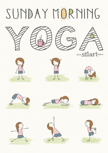 Yoga Illustration, stik figure