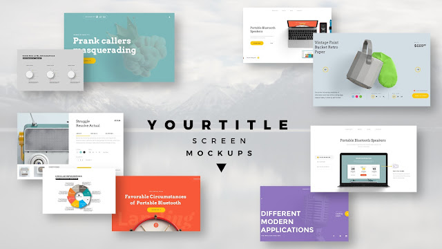 Modern Presentation Screen Mockup with Free PowerPoint Templates Slide 3