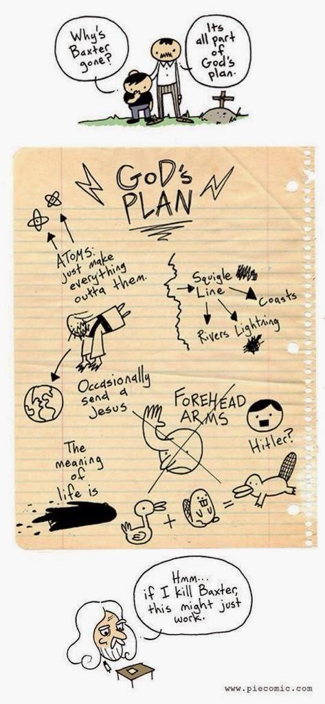 Funny God's Plan Joke Picture Cartoon