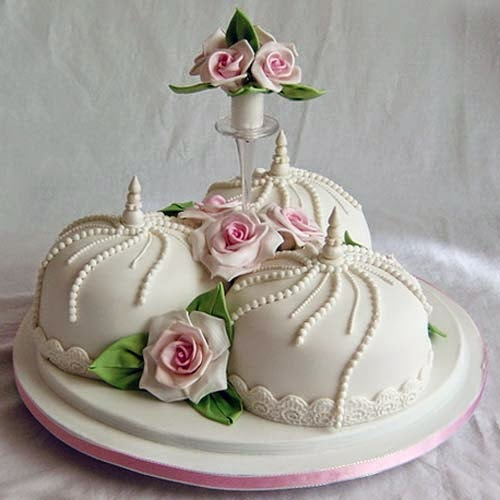Contemporary Wedding Cake - Need Of The Day