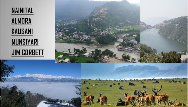 """Nainital - Almora - Munsiyari - Kausani - Jim Corbett National Park (8Days)      Day1 : Delhi - Nainital  Morning upon arrival at Railway station / Airport or your desired location. you will picked up by our representative. """"Welcome"""" and transfer to Nainital by road. Upon arrival at Nainital check into your pre-booked Hotel, After refreshing yourself at the hotel in Nainital,go on a sightseeing tour,beginning with boating on the famous Naini Lake (at your own cost) and visit to the holy Naina Devi Temple.After that, visit famous tourist spots like Naina Peak,Snow View and lands Etc.In the evening,enjoy shopping at the Mall road.Dinner and stay at the hotel.    Day2 : Nainital -  Lake Tour  After breakfast drive for lake tour of Bhimtal,Sattal,Naukuchiatal.Drive back to Hotel,Dinner (own cost)& overnight stay at Hotel.    Day3 : Nainital - Almora   After breakfast check out from hotel and depart to Almora.Check in to the hotel,After refreshing yourself at the hotel in Almora & visit to Temples in the evening return to hotel & stay at hotel.  Nainital - Almora - Munsiyari - Kausani - Jim Corbett National Park (8Days)    Day1 : Delhi - Nainital  Morning upon arrival at Railway station / Airport or your desired location. you will picked up by our representative. """"Welcome"""" and transfer to Nainital by road. Upon arrival at Nainital check into your pre-booked Hotel, After refreshing yourself at the hotel in Nainital,go on a sightseeing tour,beginning with boating on the famous Naini Lake (at your own cost) and visit to the holy Naina Devi Temple.After that, visit famous tourist spots like Naina Peak,Snow View and lands Etc.In the evening,enjoy shopping at the Mall road.Dinner and stay at the hotel.    Day2 : Nainital -  Lake Tour  After breakfast drive for lake tour of Bhimtal,Sattal,Naukuchiatal.Drive back to Hotel,Dinner (own cost)& overnight stay at Hotel.    Day3 : Nainital - Almora   After breakfast check out from hotel and depart to Almora.Check in to the hotel,After"""