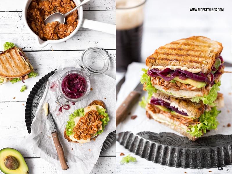 Pulled Jackfruit Sandwiches mit veganer BBQ Sauce