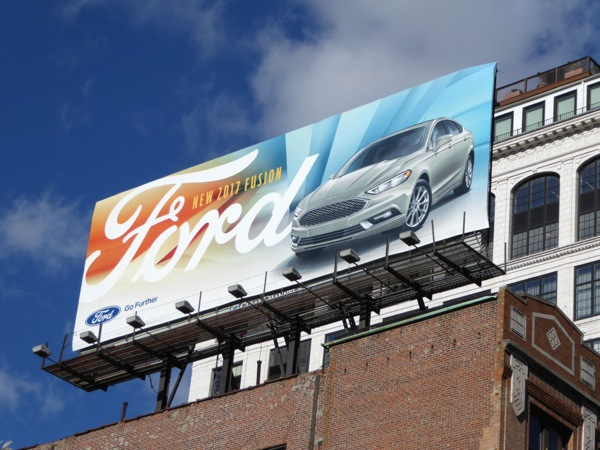 Ford Fusion 2017 billboard NYC