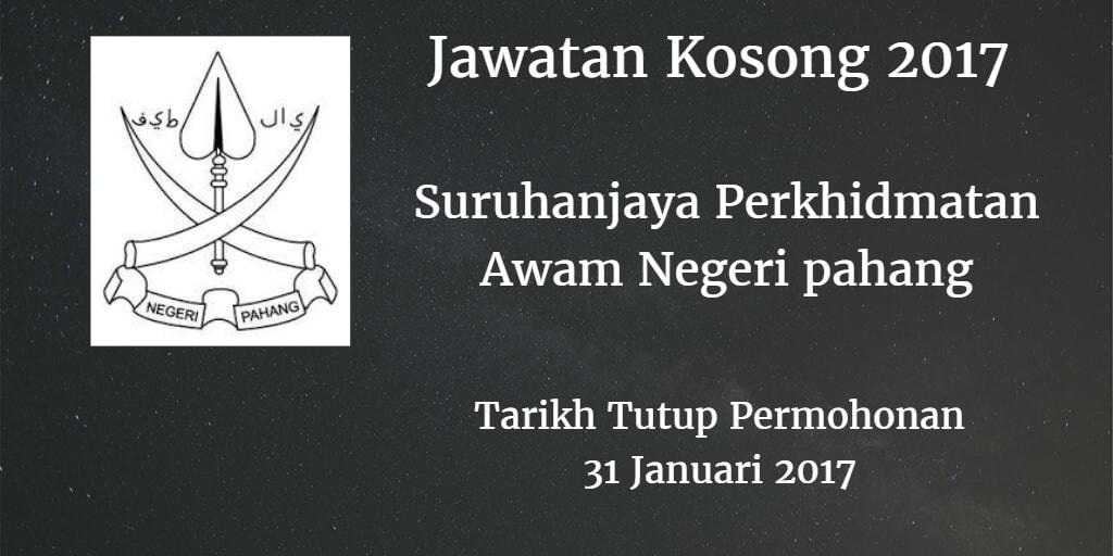 Jawatan Kosong SPA Pahang 31 Januari 2017