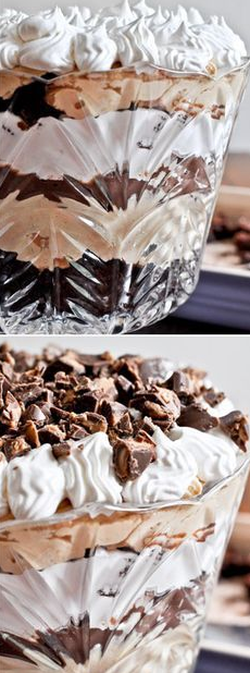 PEANUT BUTTER FUDGE BROWNIE TRIFLE