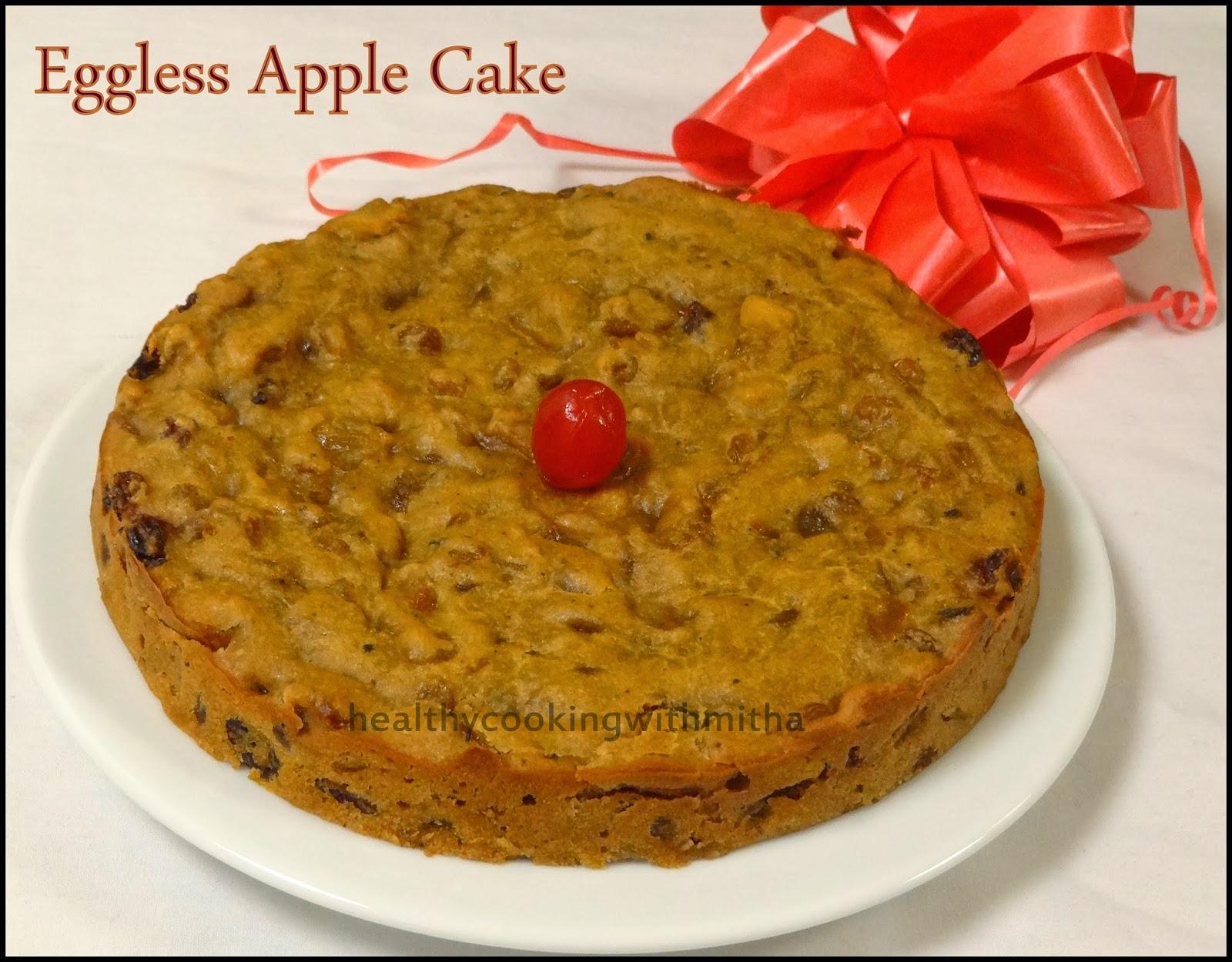 Eggless Carrot Apple Cake Recipe