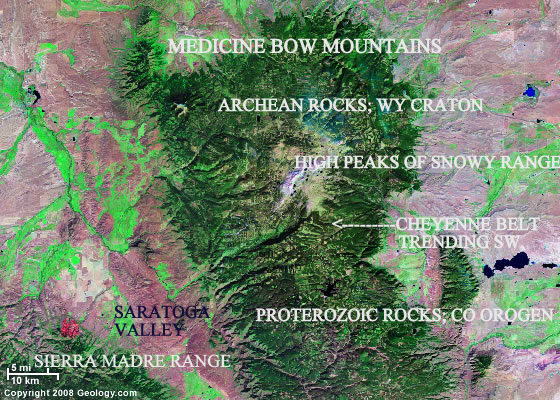 Snowy Range Wyoming Map.Csms Geology Post Precambrian Wyoming Snowy Medicine Bow Laramie