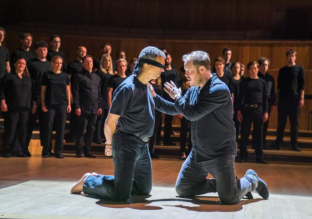 Bach: St John Passion - Roderick Williams, Andrew Staples, Choir of the Enlightenment - Royal Festival Hall (Photo Tristram Kenton)
