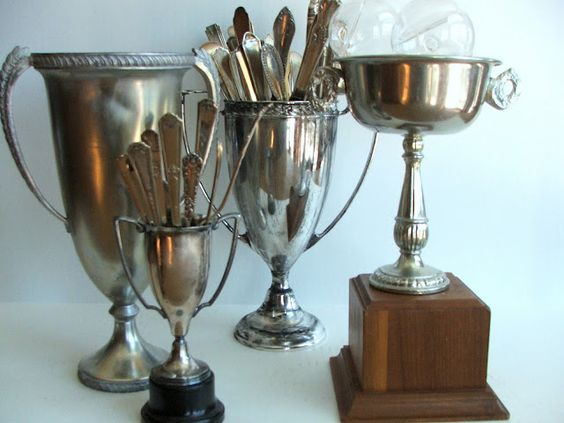 Eye For Design Decorating With Vintage Trophy Cups
