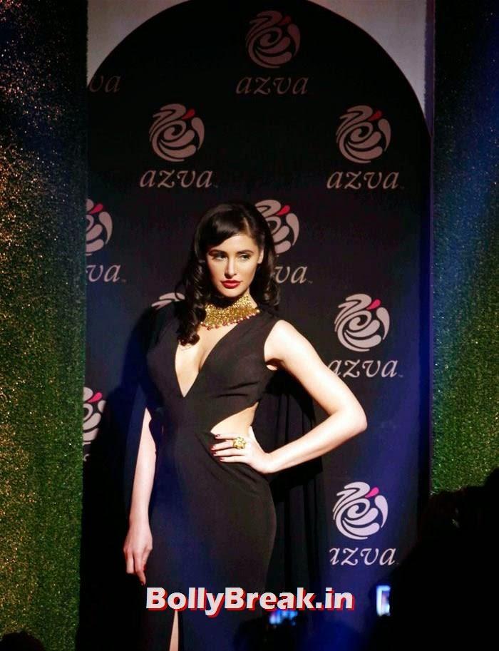 Nargis Fakhri, Nargis Fakhri Black Dress Hot Pics from Indian Bridal Fashion Week 2014