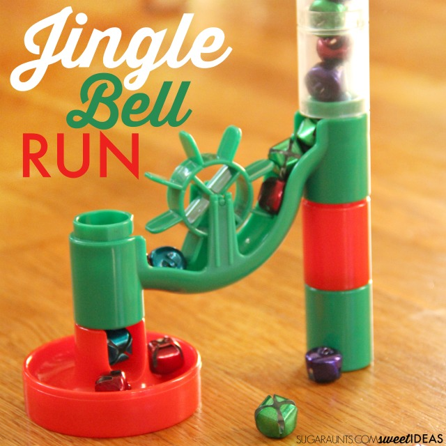 Kids love this jingle bell marble run for working on visual tracking activities this time of year, perfect for Christmas season classroom preschool planning!