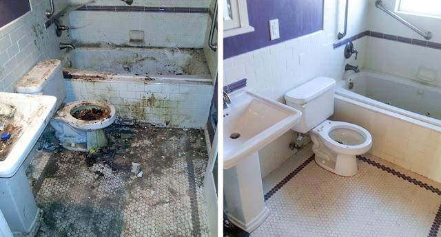 Esse banheiro dava medo de entrar nele