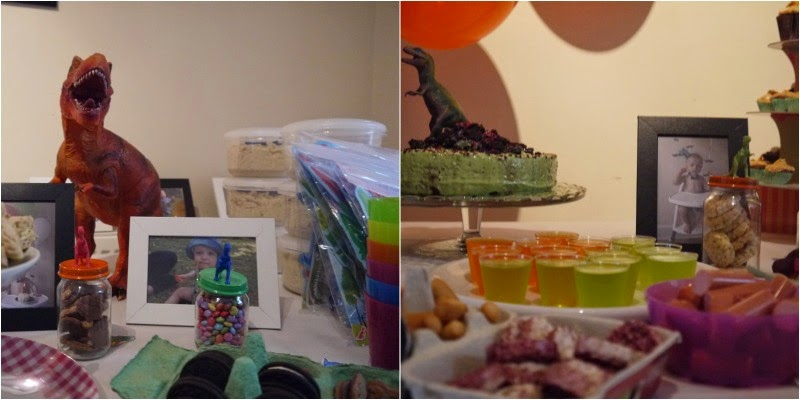 Riley\'s Dinosaur Party: the decor & food - Him & Her