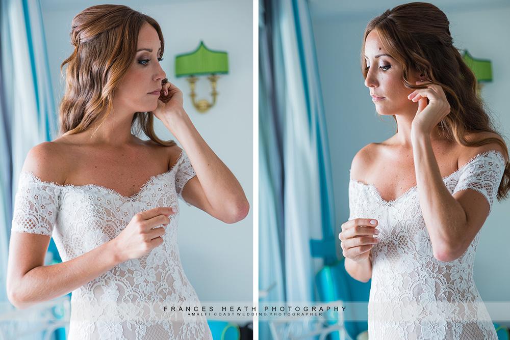 Bride at hotel San Pietro