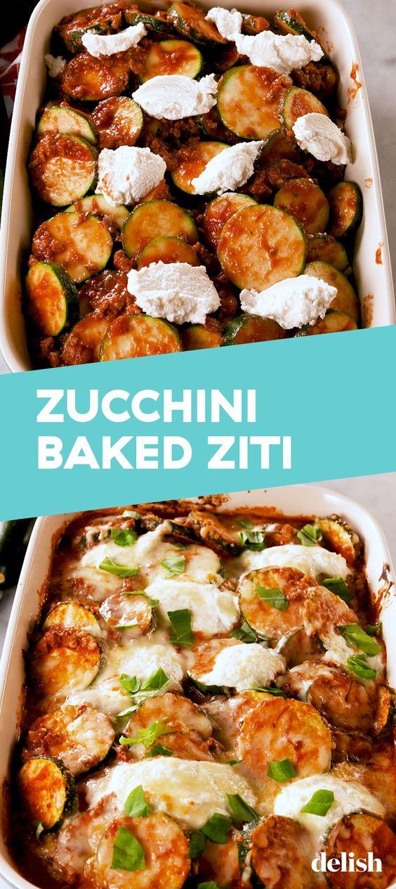 """Zucchini Baked """"Ziti"""""""
