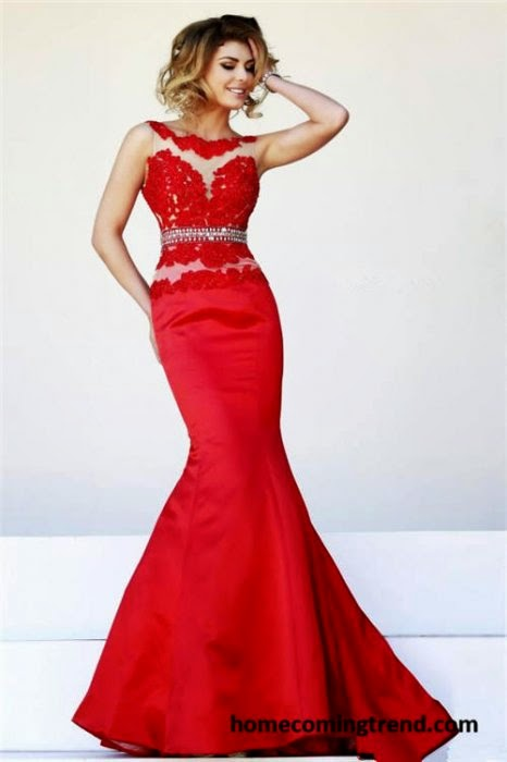 Shimmering mermaid style prom dresses 2015: Shimmering ...