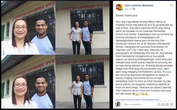 'Pasaway' ALS student impresses former teacher Laguna