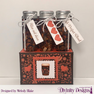 Divinity Designs Stamp Sets: Treat Tag Sentiments 1, Test Tube Treat Stamps, Custom Dies: Test Tube Trio, Mini Stitched Hearts, Scalloped Squares, Squares, Large Test Tubes, Paper Collection: Latte Love