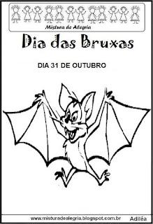 Dia das bruxas-morcego para colorir